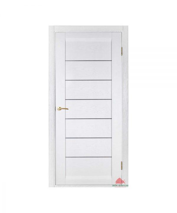 Межкомнатная дверь Бристоль белый ясень (с молдингами) ПГ