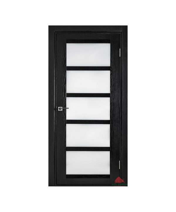 Межкомнатная дверь Бристоль чёрный ясень ПО