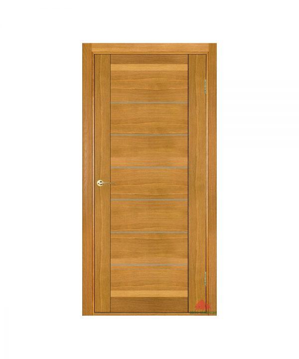 Межкомнатная дверь Бристоль дуб светлый (с молдингами) ПГ