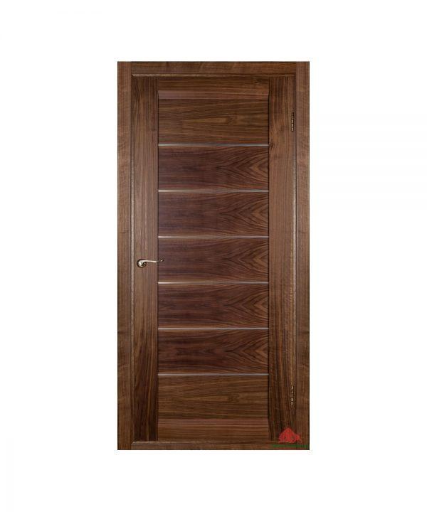 Межкомнатная дверь Бристоль орех американский (с молдингами) ПГ