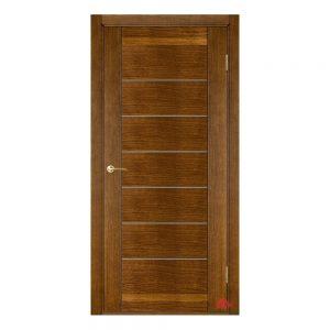 Межкомнатная дверь Бристоль орех (с молдингами) ПГ