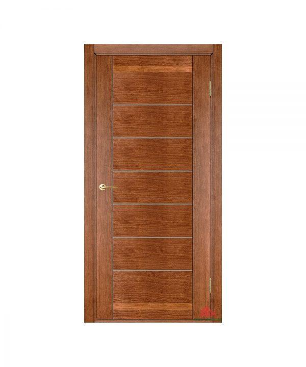 Межкомнатная дверь Бристоль орех светлый (с молдингами) ПГ