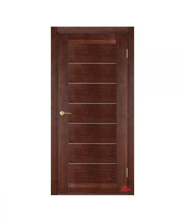 Межкомнатная дверь Бристоль темный орех (с молдингами) ПГ