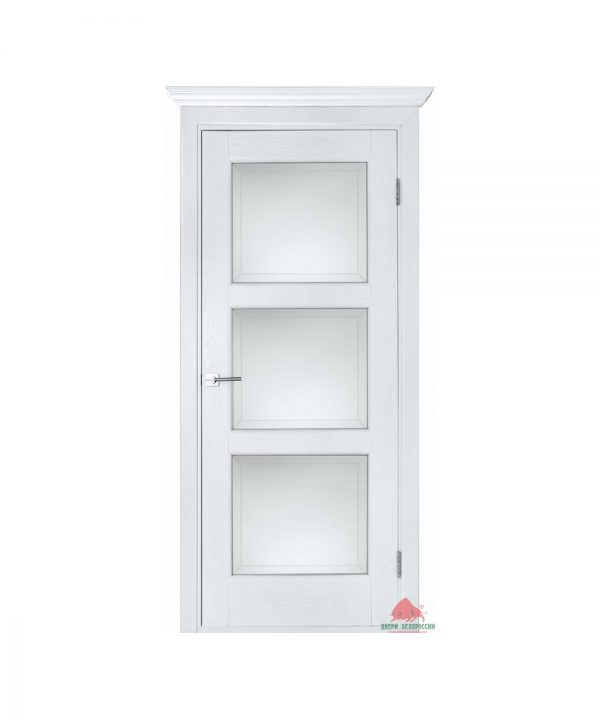 Межкомнатная дверь Лестница белый ясень ПО