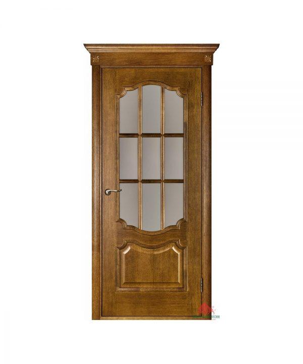 Межкомнатная дверь Престиж дуб рустикаль ПО (с решеткой)