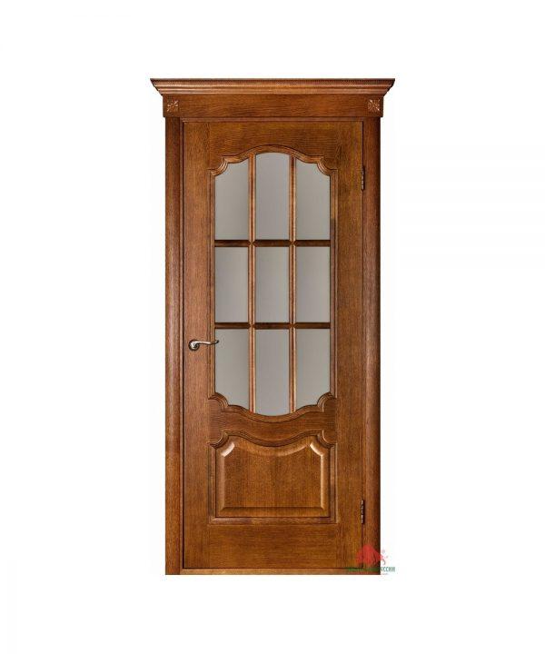 Межкомнатная дверь Престиж каштан ПО (с решеткой)