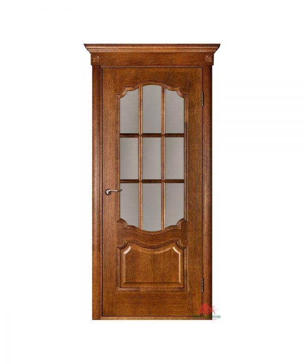 Межкомнатная дверь Престиж орех ПО (с решеткой)