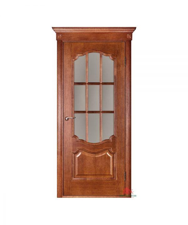 Межкомнатная дверь Престиж орех светлый ПО (с решеткой)