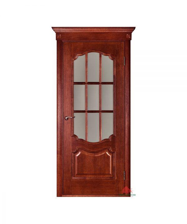 Межкомнатная дверь Престиж вишня ПО (с решеткой)