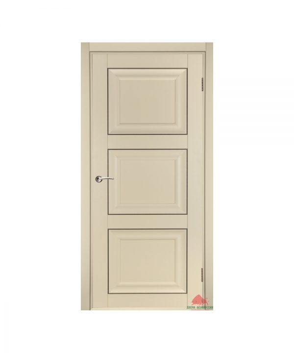 Межкомнатная дверь Трио матовая ваниль ПГ