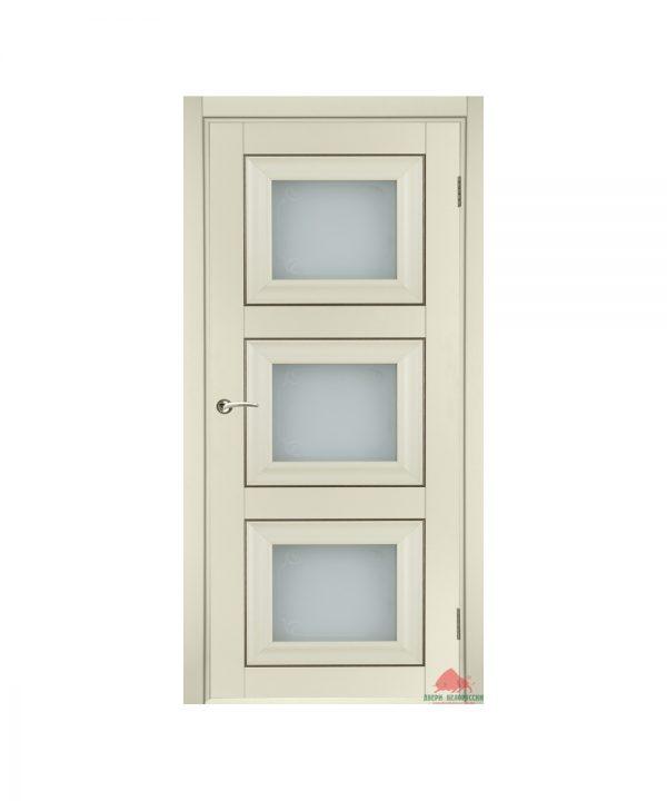 Межкомнатная дверь Трио матовая ваниль ПО
