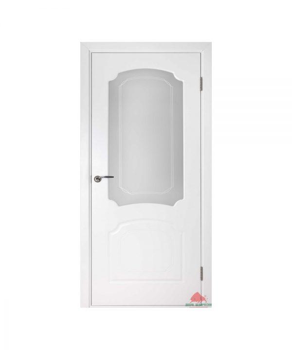 Межкомнатная дверь Виктория белая эмаль ПО