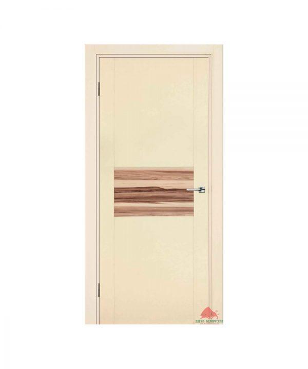 Межкомнатная дверь Зебрано ваниль сатин ПГ
