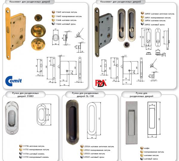 Комплекты для входных и межкомнатных дверей