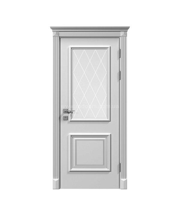 """Дверное полотно """"Asti"""" со стеклом, белый мат"""