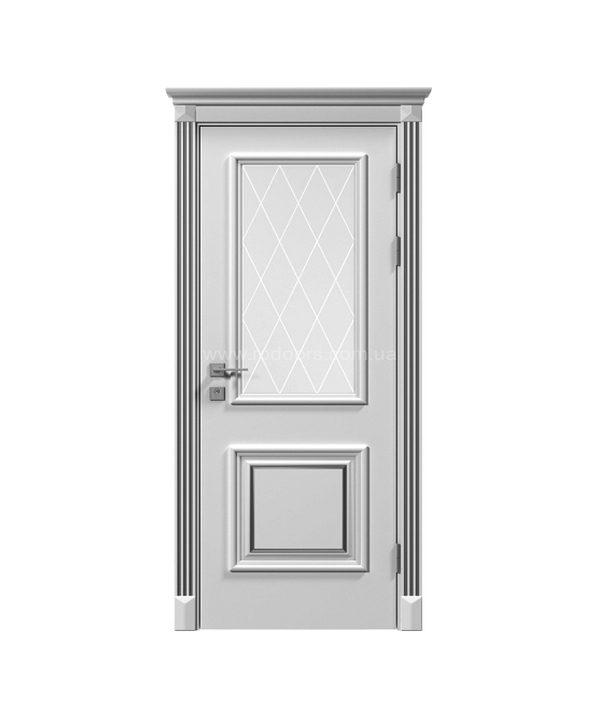 Дверное полотно «Asti» со стеклом рис.3, краска RAL
