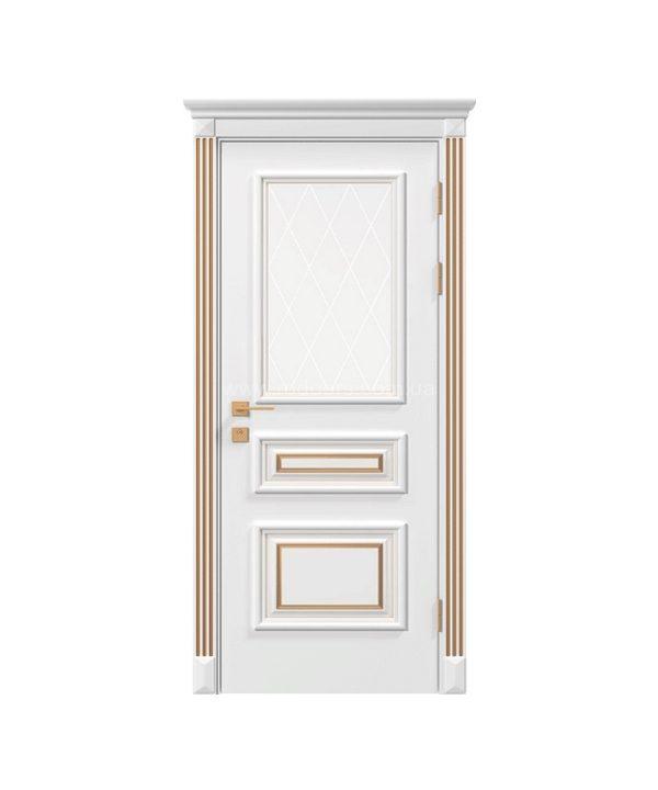 Дверное полотно «Asti» со стеклом, краска RAL,патина