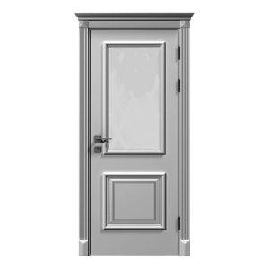 """Дверное полотно """"Asti"""" со стеклом, белый мат,патина"""