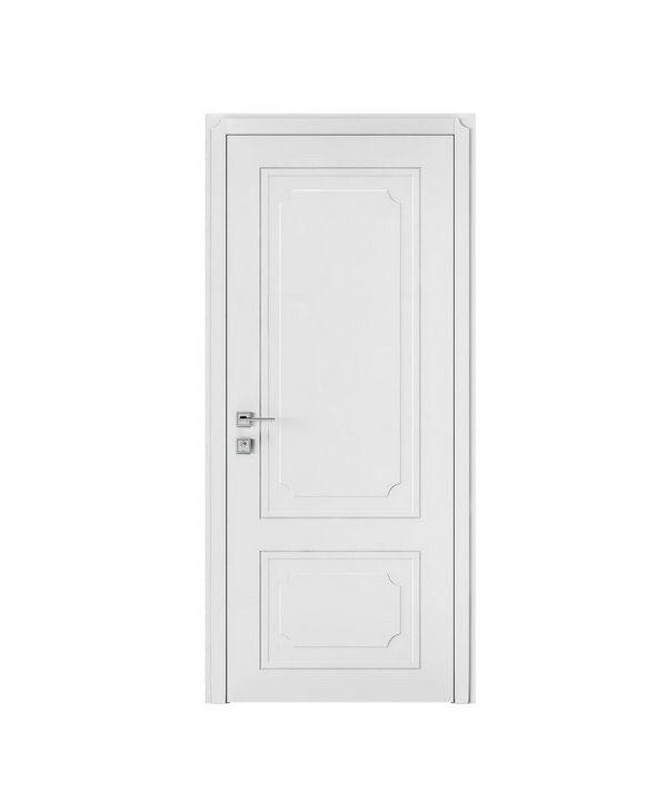 """Дверное полотно """"Selena"""" полустекло с тафлей белый мат"""