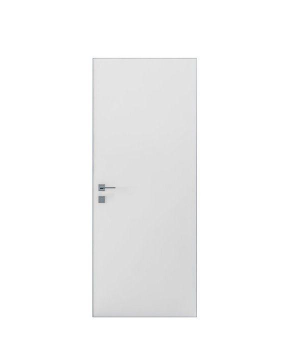 """Дверное полотно """"Prima Alum"""" белый мат"""