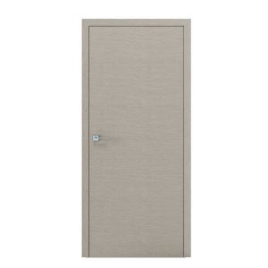 Дверное полотно «Surf» шпон дуб (дуб белый) стекло (Триплекс белый)