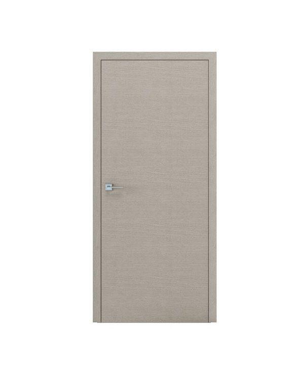 """Дверное полотно """"Surf"""" шпон дуб (дуб белый) стекло (Триплекс белый)"""