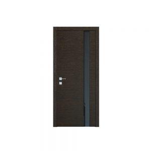 """Дверное полотно """"Flat"""" полустекло Flat (Триплекс черный )"""