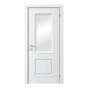 """Дверное полотно """"Avalon"""" полустекло рис.6 в шпоне ясень в одном из цветов RAL"""