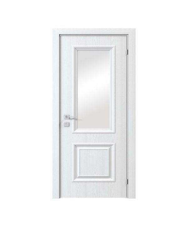 """Дверное полотно """"Avalon"""" полустекло рис.7 шпоне дуб в одном из цветов RAL"""