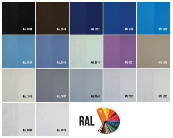 Дверное полотно «Rossi» со стеклом, краска RAL,патина