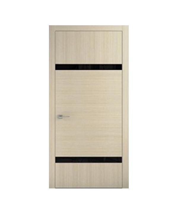 Межкомнатные двери Абу-Даби+ Стекло Лакобель (черное, белое, кремовое)