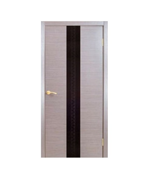 Межкомнатные двери Ванкувер + Стекло Лакобель (черное, белое, кремовое)